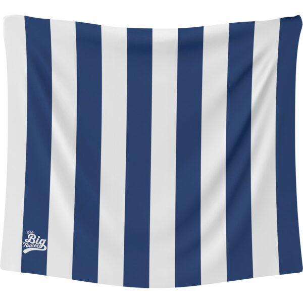 The Big Towel Coastal Stripes Hamptons Blue