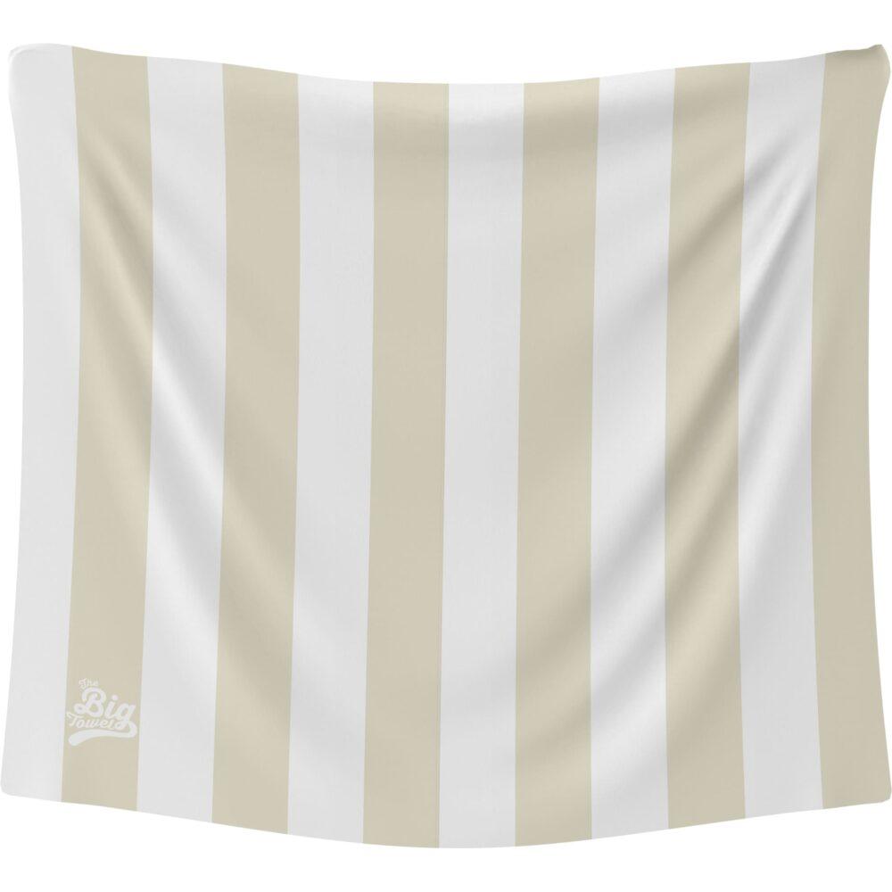 The Big Towel Coastal Stripes Whitsunday Sand