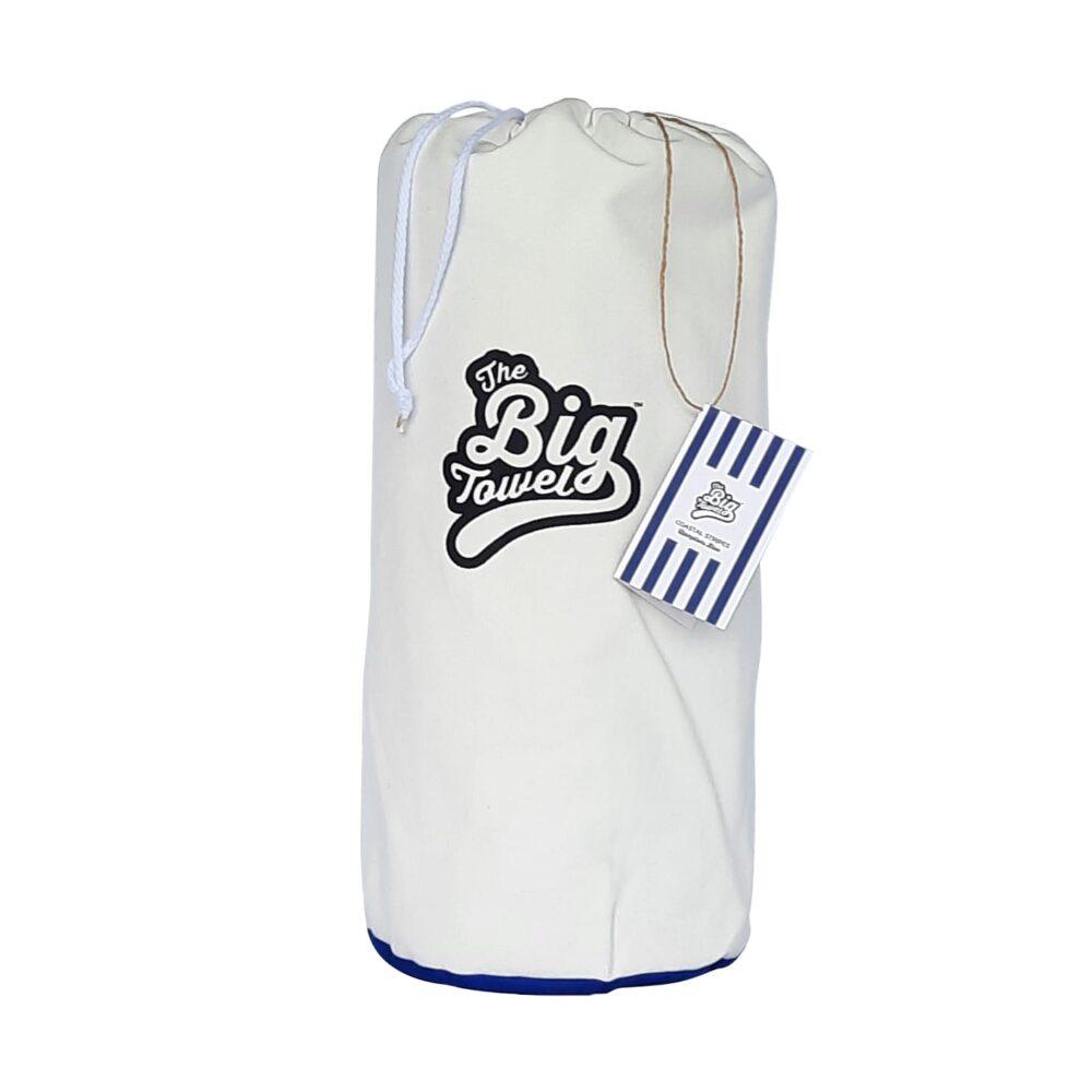 The Big Towel Canvas Bag Coastal Stripes Hamptons Blue