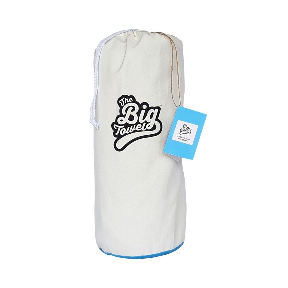 The Big Towel Canvas Bag Classic Solids Blue Lagoon