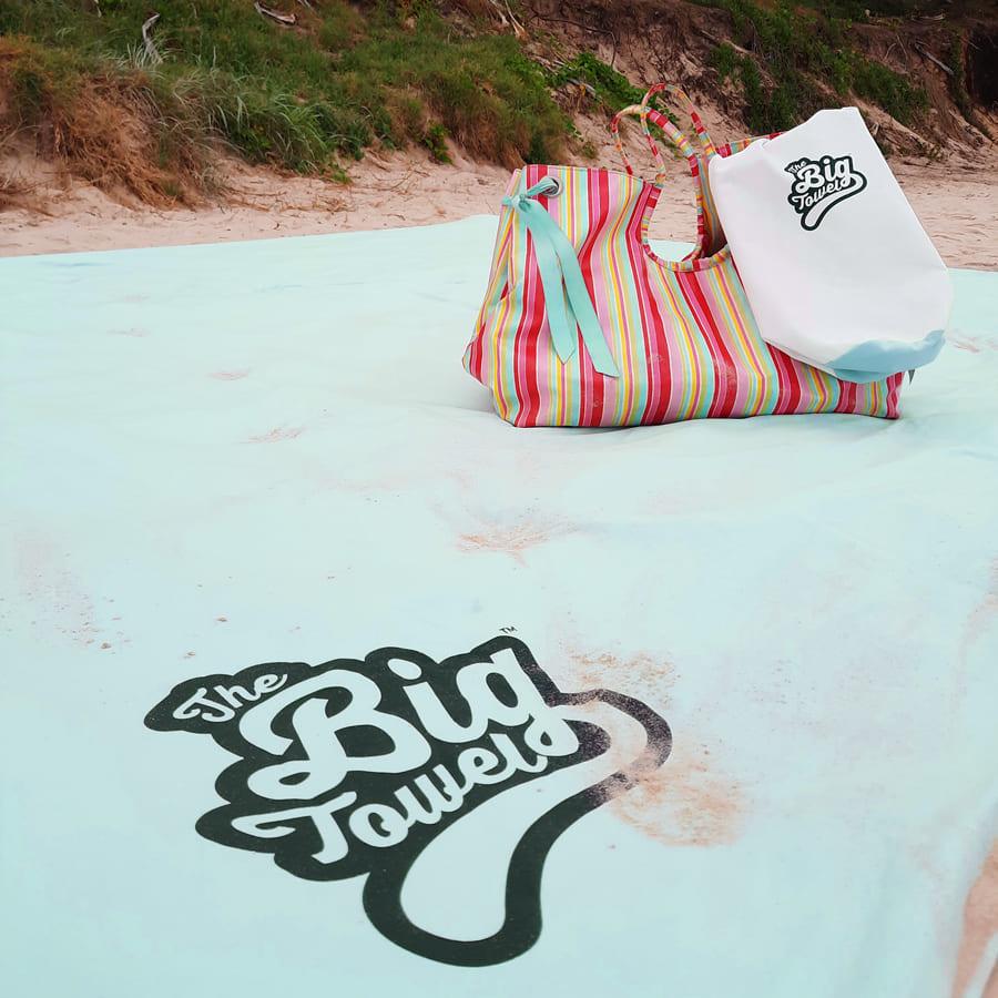 Sea Foam Big Towel on the beach