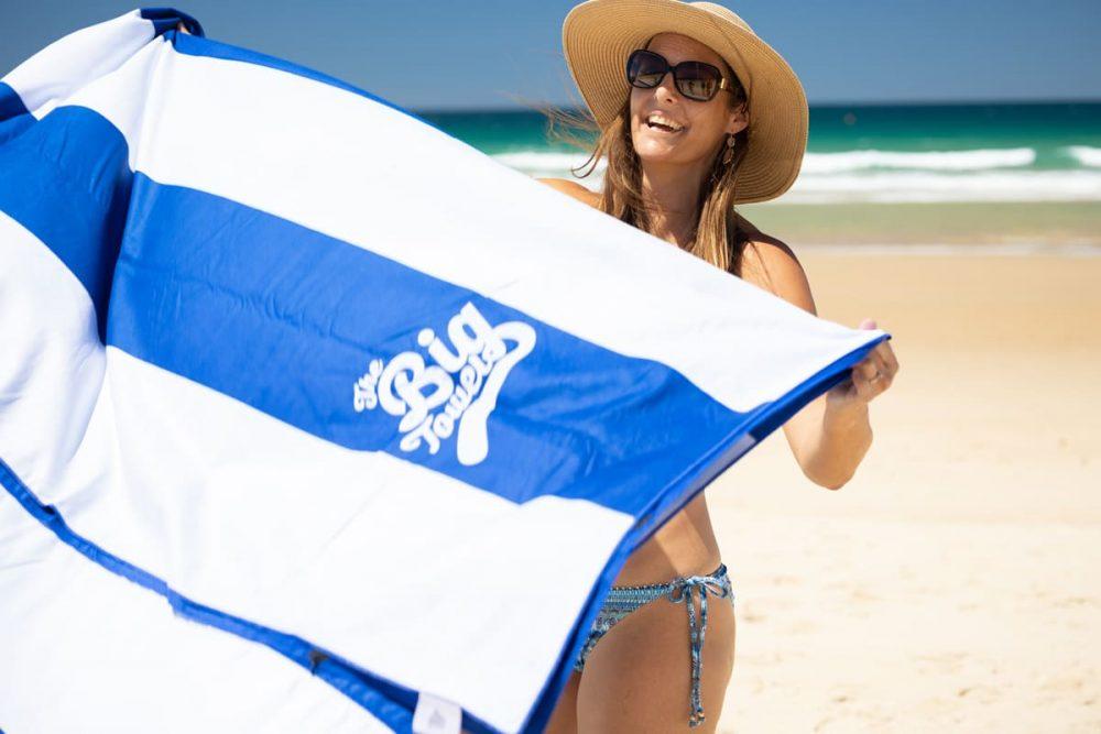The Big Towel - Hamptons Blue