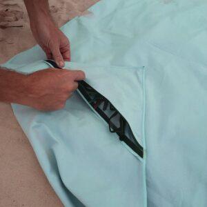 The Big Towel Secret Zip Pocket Classic Solids Sea Foam