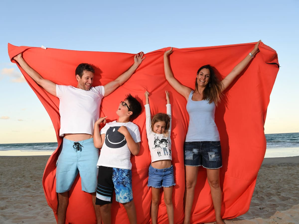 The Big Towel Orange Burst Family Fun