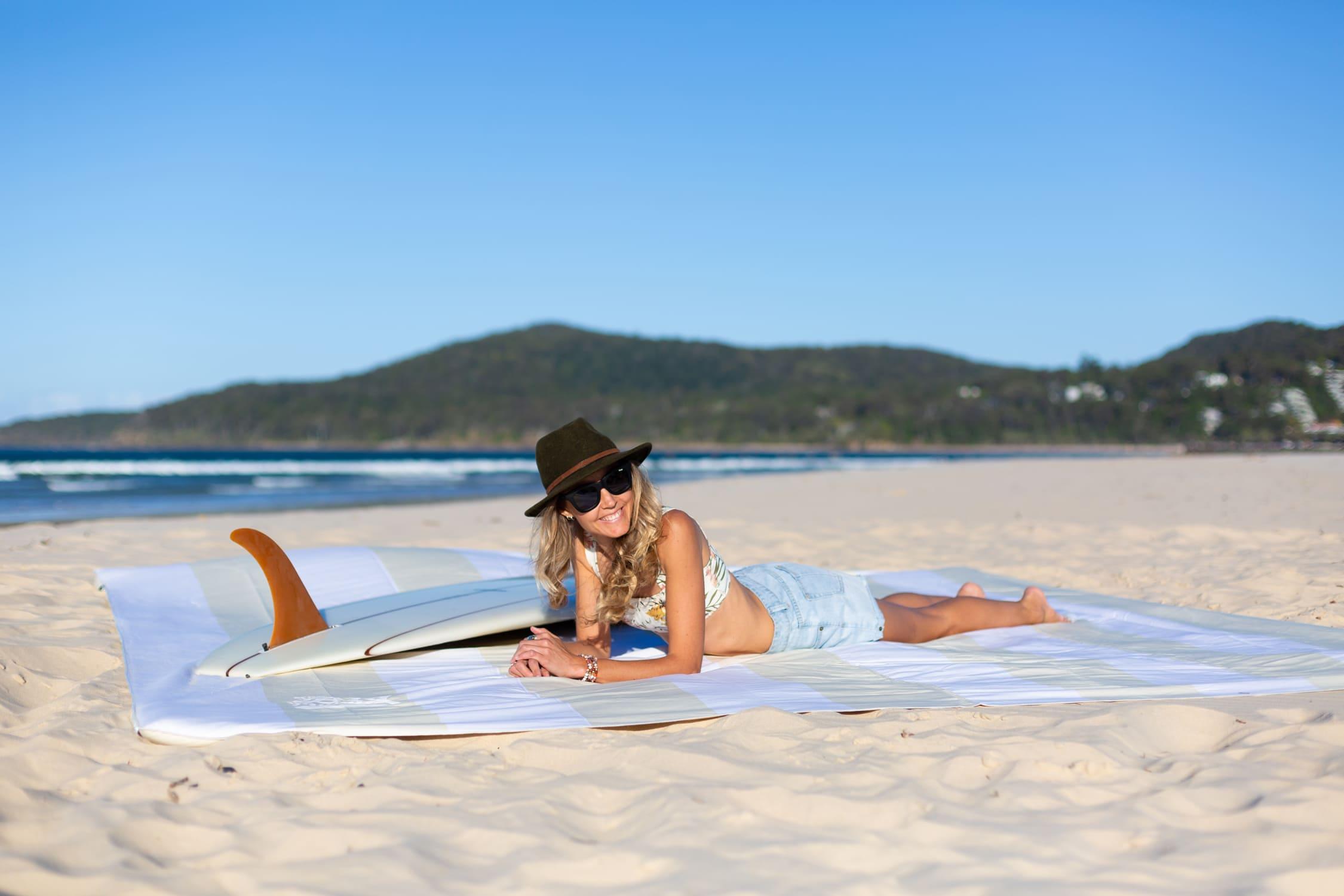 The Big Towel Whitsunday Sand Longboard Scene