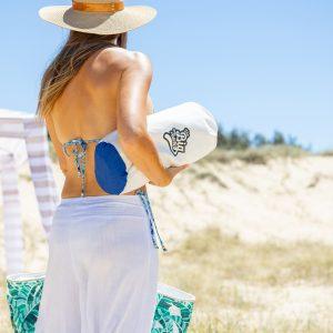 The Big Towel Hamptons Blue Canvas Bag