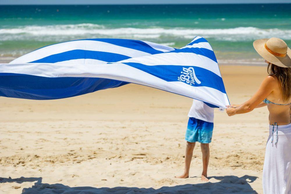The Big Towel Website Banner - Hamptons Blue